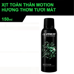 Xịt khử mùi XMen For Boss Motion 150ml