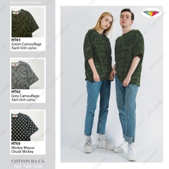 VẢI FRENCH TERRY COTTON DÀY HỌA TIẾT CAMO (Made in KOREA)