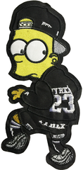 BART SIMPSON STICKER 41 - A3 (28cm)