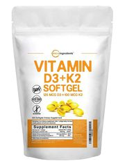 MICRO INGREDIENTS VITAMIN D3 K2 MK7 (300 VIÊN)