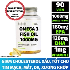 PURE OMEGA 3 FISH OIL (90 VIÊN)