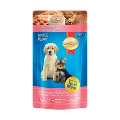 Pate gói cho chó con SmartHeart Puppy Real Chicken 130g
