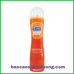 Gel bôi trơn Durex play warming, chai 100ml