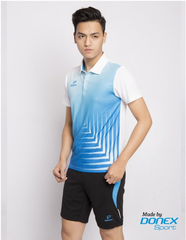 Badminton Shirts Donex Original Vân cá white blue