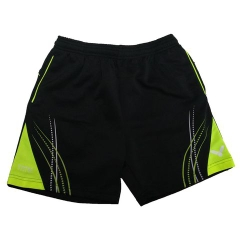 Badminton Shorts Victor Factory Made pattern blue lime
