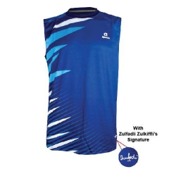 Badminton Shirt sleeveless Apacs Original 338 blue