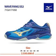 Badminton Shoes Mizuno Wave Fang SS2 Blue Yellow Gray 71GA171050
