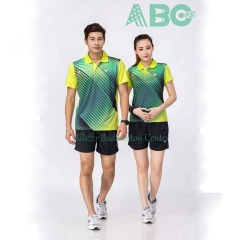 Badminton Shirts Victor 1827 blue lime