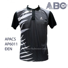 Badminton Shirt Apacs Original 6011 black