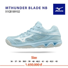 Badminton Shoes Mizuno THUNDER BLADE Blue White 189102