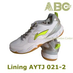 Badminton Shoes Lining AYTJ 021-2 white blue lime