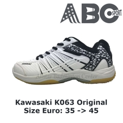 Badminton Shoes Kawasaki K063 White - Black