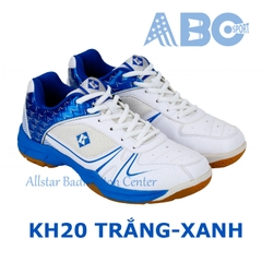 Badminton Shoes Kumpoo KH20 White Blue