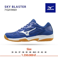Badminton Shoes Mizuno Sky Blaster White Blue 194501