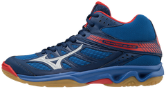 Badminton Shoes Mizuno Thunder Blade MID Blue - Red