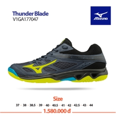 Mizuno Badminton Shoes Thunder Blade blue yellow black