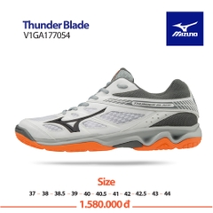 Mizuno Badminton Shoes Thunder Blade white black grey