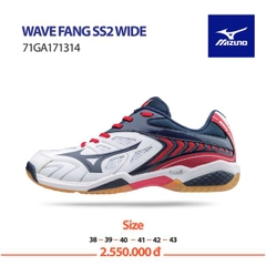 Badminton Shoes Mizuno Wave Fang SS2 WIDE White Blue Red 171314