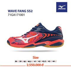 Badminton Shoes Mizuno Wave Fang SS2 Pink Organe Blue 171001