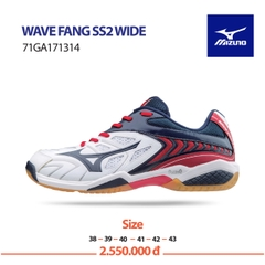 Badminton Shoes Mizuno Wave Fang SS2 WIDE white blue red