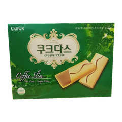 BÁNH CROWN COFFEE SLIM... 288G (XANH LÁ) (HÔP)