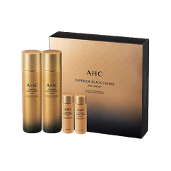 SET AHC SUPERIOR BLACK CAVIAR # VANG TONER140ML+ EMULSION 140ML+ 2MINI 25ML (SET)