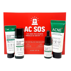 SET TRỊ MỤN AC SOS AHA-BHA-PHA 30DAYS SOME BY MI KIT (4SP)