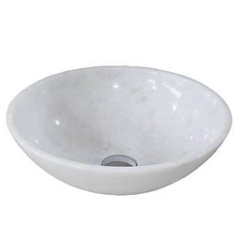NATURAL STONE BATHROOM BASIN - WHITE MARBLE - BST33