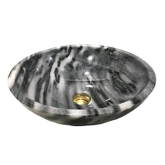 NATURAL STONE BATHROOM BASIN - BENGAL BLACK - BST70