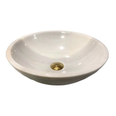 NATURAL STONE BATHROOM BASIN - MILK WHITE - BST90