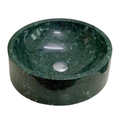 NATURAL STONE BATHROOM BASIN - INDIA GREEN - BST50