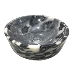 NATURAL STONE BATHROOM BASIN - BENGAL BLACK - BST71