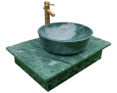 NATURAL STONE LAVABO TABLE - INDIA GREEN MARBLE LT05
