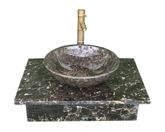 NATURAL STONE LAVABO TABLE - ITALY BROWN MARBLE LT03