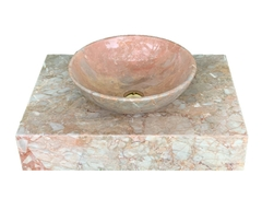 NATURAL STONE LAVABO TABLE - ITALY PINK MARBLE - T08