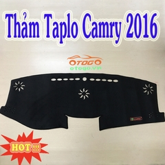 Thảm Taplo Nhung Cao Cấp Toyota Camry 2016