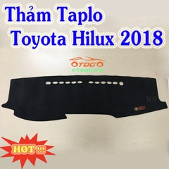 Thảm Taplo Nhung Cao Cấp Toyota Hilux 2018