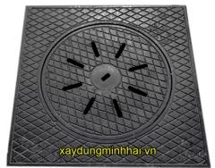 Nắp hố ga gang xám thân vuông KT: 900x900xØ650mm