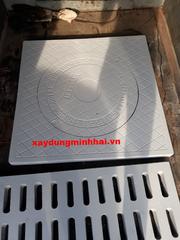 Nắp hố ga bằng vật liệu Composite KT: 850x850xØ650mm