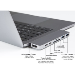 CỔNG CHUYỂN JINYA USB TYPE-C  7 IN 1 ADAPTER - MACBOOK