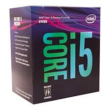 CPU Intel Core i5 8400 2.8Ghz Turbo Up to 4Ghz / 9MB / 6 Cores, 6 Threads / Socket 1151 v2 (Coffee Lake)