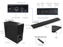 Loa Soundbar Sony 2.1 HT-CT390 300W