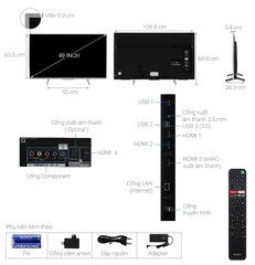 Android Tivi Sony 4K 49 inch KD-49X8500H/S Model 2020
