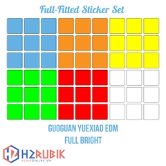 GuoGuan YueXiao EDM Full Fitted Sticker Set - full bright