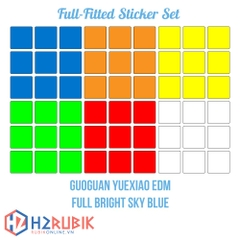 GuoGuan YueXiao EDM Full Fitted Sticker Set - full bright sky blue