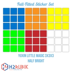 Yuxin Little Magic 3x3 Full Fitted Sticker Set - Giấy dán rubik tràn viền
