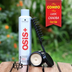COMBO Gôm Osis+ 2 Freeze Finish 300ml + Sáp By Vilain Dynamite Clay 65ml