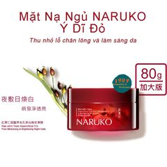 Mặt Nạ Ngủ Naruko Ý Dĩ Nhân Đỏ – RJT Supercritical CO2 Pore Minimizing and Brightening Night Gelly 80 gr