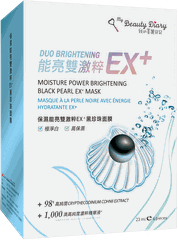 Dưỡng Ẩm Bright Double Excited EX - Mặt Nạ Ngọc Trai Đen