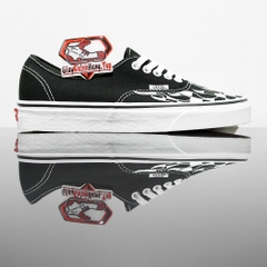 VANS Authentic (Checker Flame) Black/True White
